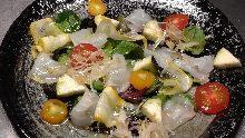 Seasonal seafood carpaccio