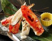 Red king crab sashimi