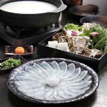 極上豆乳仕立ての胡麻味噌鍋 ~特上和牛もつホル鍋~
