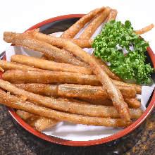 Fried burdock sticks