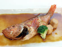 Simmered marbled rockfish