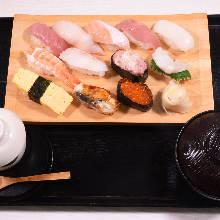 Nigiri sushi lunch set
