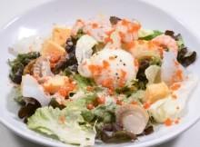 Caesar salad with seafood