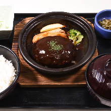 Hamburg steak set meal