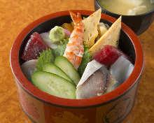 Chirashi sushi lunch