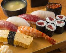 Assorted premium nigiri sushi