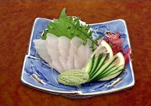 Japanese sea bass sashimi
