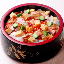 Barachirashi (mixed chirashizushi)
