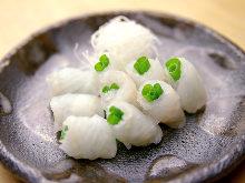 Live conger eel sashimi