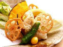 Conger eel tempura
