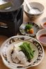 """Conger eel """"shabushabu (parboiled in hot soup)"""""""