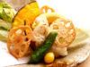 Conger eel and seasonal vegetables tempura
