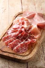 Assorted prosciutto and salami