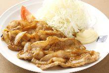 米沢豚のしょうが焼き