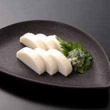 Itawasa(fish cakes with wasabi and soy sauce)