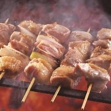 焼き鶏五種盛合せ