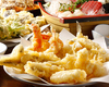 Enjoy freshly prepared tempura