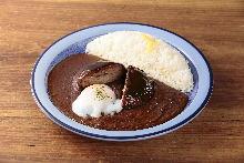 Hamburg steak over curry