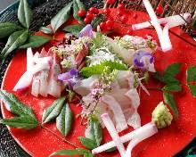 Assorted sashimi of the season, 3 kinds