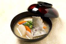 Fish stock soup