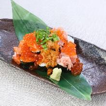 別腹~海鮮こぼれ寿司~
