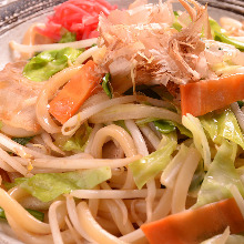 Sauteed wheat noodles