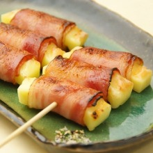 Cheese bacon skewer