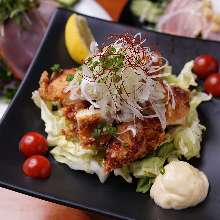 Sanzoku-yaki(large fried chicken)