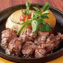 Diced steak