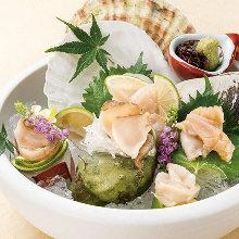 Assorted shellfish sashimi, 3 kinds