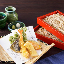 Buckwheat noodles with tempura