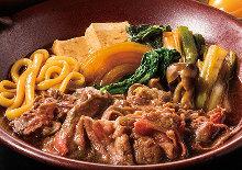 四元豚すき焼き小鍋(たまご乗せ)