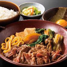 【人気】すき焼き鍋定食