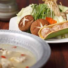 Mizutaki of Jidori chicken