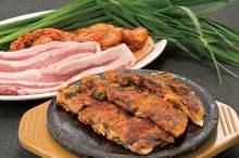 豚肉とキムチのチヂミ
