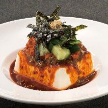 Korean-style chilled tofu