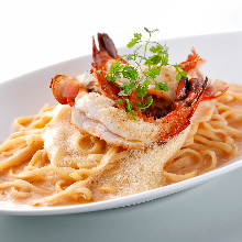 Shrimp pasta with Americane sauce