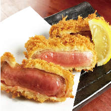 Beef tongue cutlet