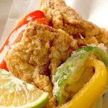 Fried pufferfish