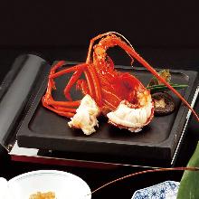 Grilled spiny lobster