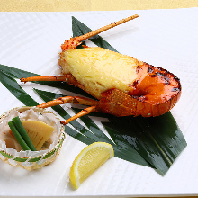 Grilled spiny lobster