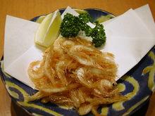Fried small shrimp
