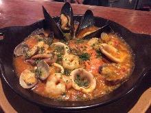 魚介のトマトカルドソ Caldoso with Sea food,Tomato Sause