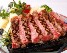 Marbled meat steak