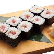 Negi toro (tuna paste with green onion roll) roll
