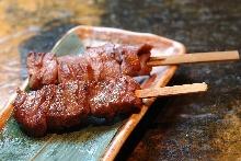 Beef tongue skewer