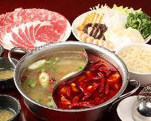 Chinese hotpot with mala sauce