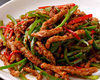 Stir-fried thinly-sliced beef