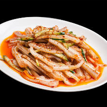 Pig's ear with chilled mala sauce