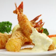 Deep-fried shrimp